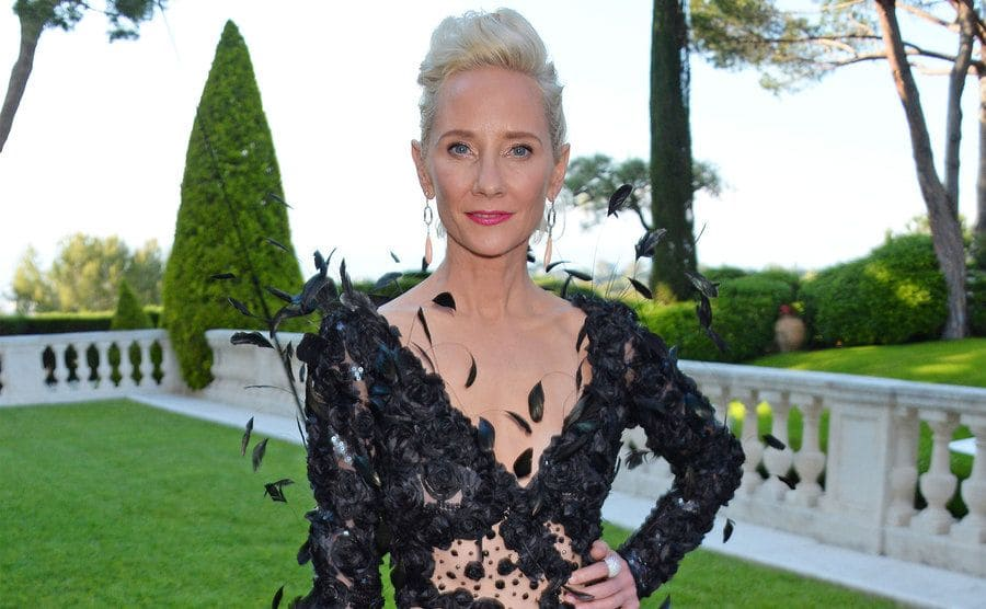 Anne Heche arrives at the amfAR Gala Cannes.