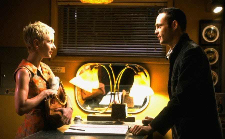 """Anne Heche and Vincent Vaughn in a scene from """"Psycho""""."""
