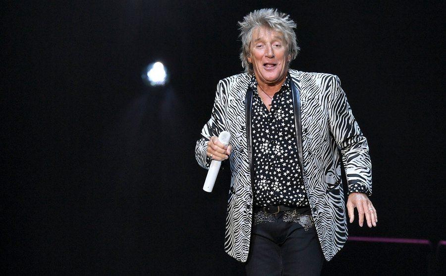 Rod Stewart performs at Madison Square Garden.