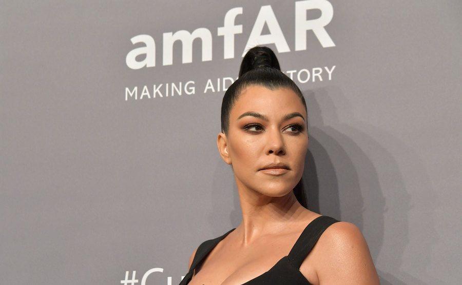 Kourtney Kardashian attends the amfAR New York Gala.