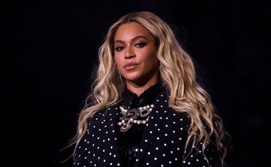 A portrait of Beyonce.