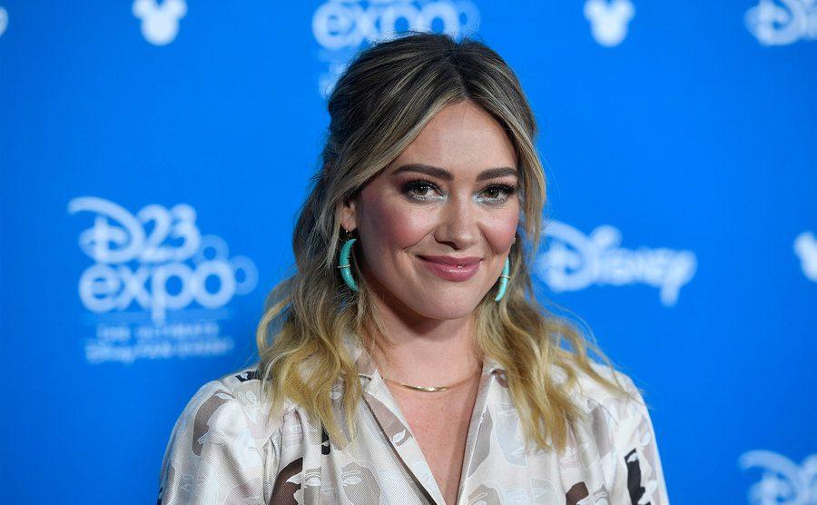 Hilary Duff attends D23 Disney+ Showcase.