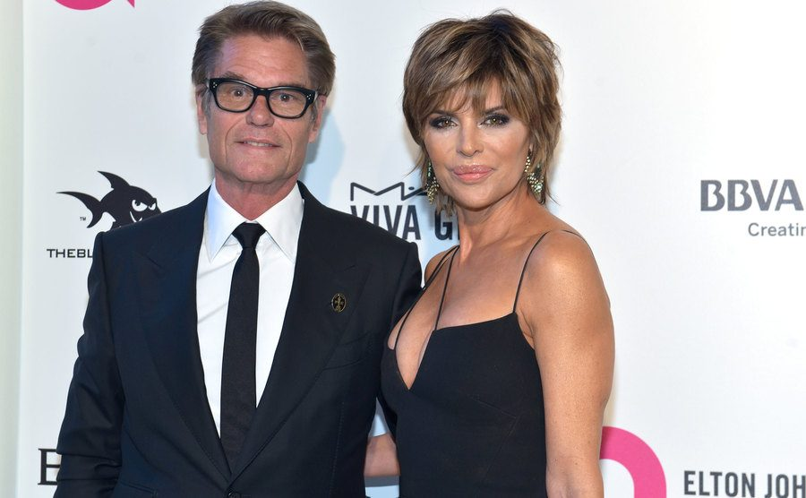 Harry Hamlin and Lisa Rinna attend an event.