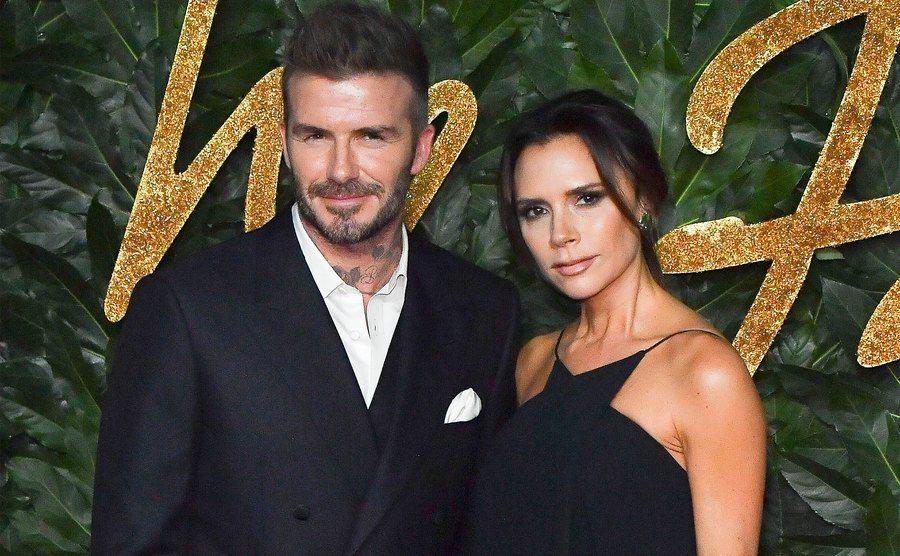 David Beckham and Victoria Beckham attend the Fashion Awards.