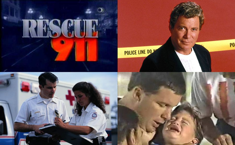 Rescue 911 Logo / William Shatner / Paramedics / Father and crying son