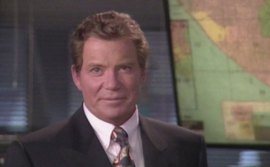 Shatner is recording the opening segment in an actual call center.