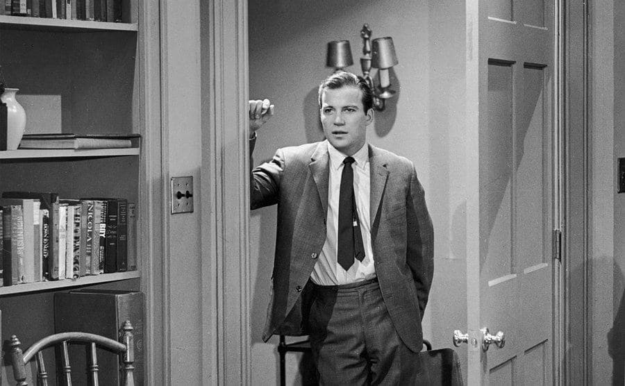 William Shatner in a still from the TV series 'For the People'.