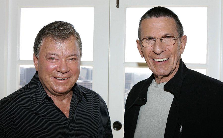 William Shatner and Leonard Nimoy promote the